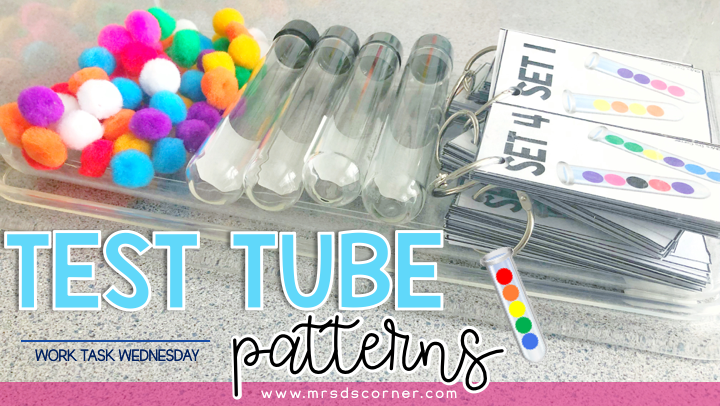 work task Wednesday - test tube patterns and colors. mrs ds corner.