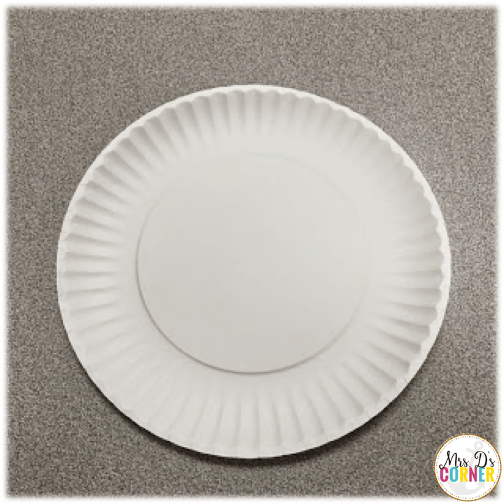 poppy craft - start with a paper plate
