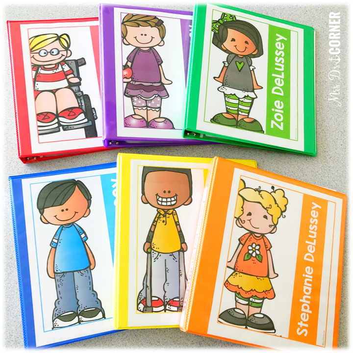 color coded student iep binders - organizing your IEPs one child at a time. blog post at mrs. ds corner