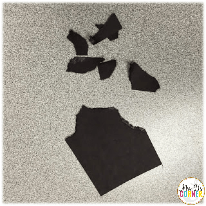 poppy craft - which is a great fine motor task, ripping the black paper into pieces