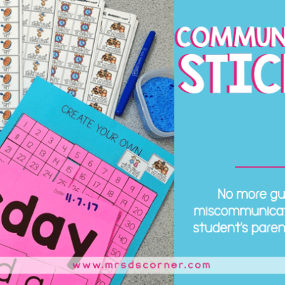 communication stickers to keep parents in the know header