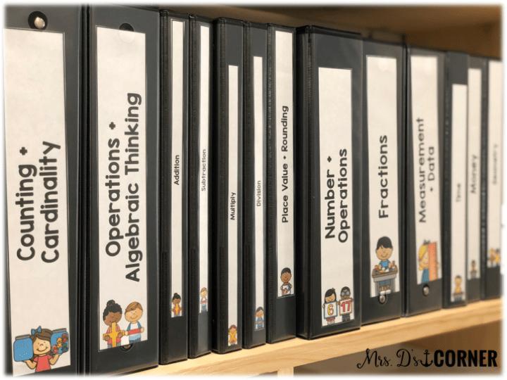 math assessment binder system