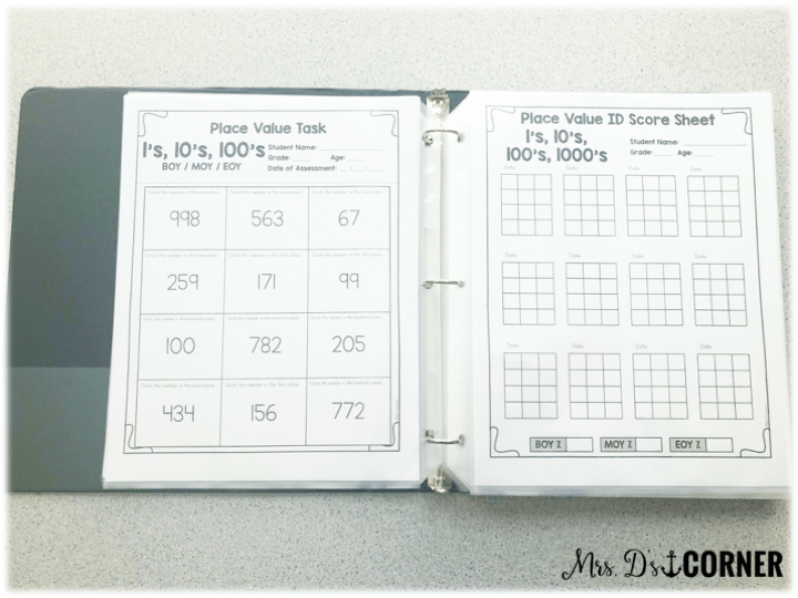 place value and rounding math assessments
