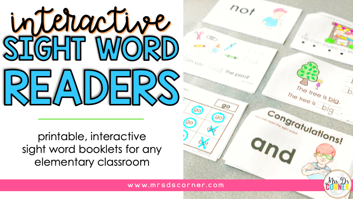 photograph relating to Printable Sight Word Readers identify Printable, Interactive Sight Phrase Textbooks for Distinctive Ed - Mrs