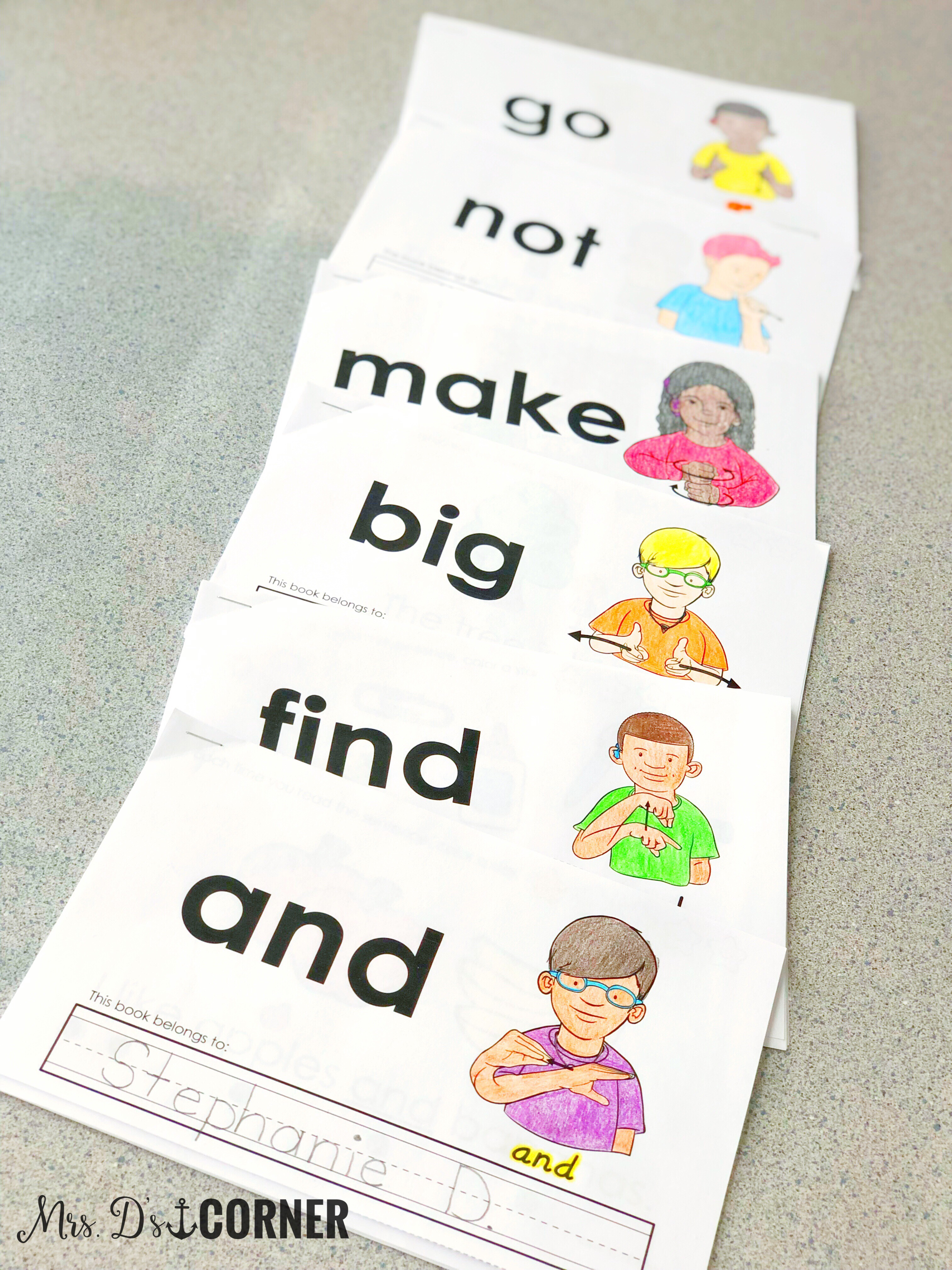 graphic relating to Printable Sight Word Readers known as Printable, Interactive Sight Term Guides for Distinctive Ed - Mrs