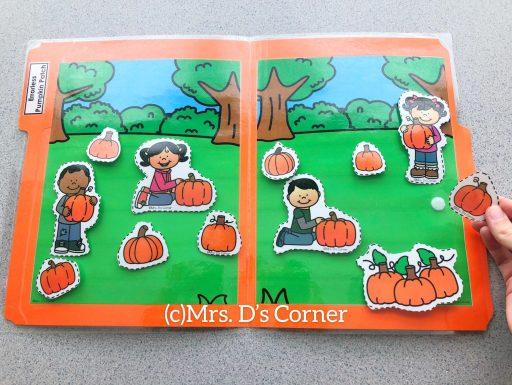 errorless pumpkin patch file folder activity at mrs ds corner