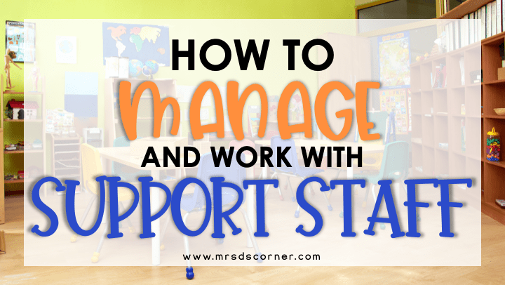 how to manage paraprofessionals header