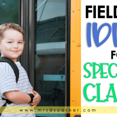Field trips for special education blog post at mrs ds corner