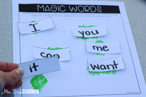 10+ Spelling Activities That Feel like Play - magic words