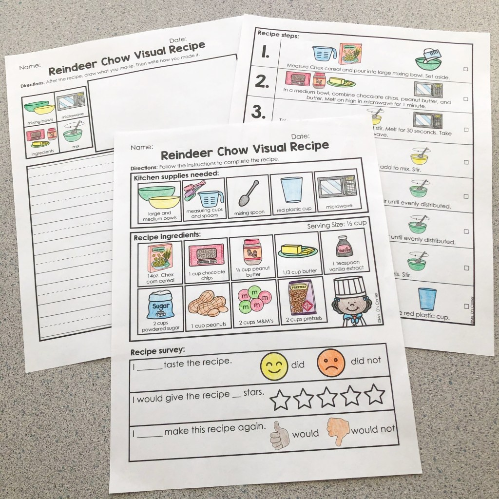 Visual recipe and writing activity for Holidays Around the World