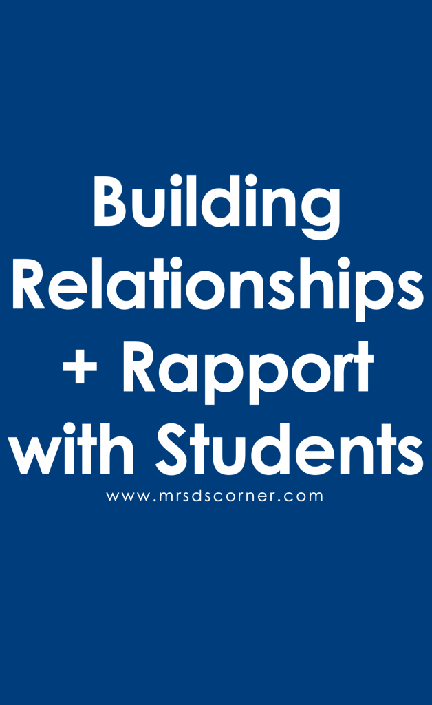 Building Relationships with Students Pinterest Image