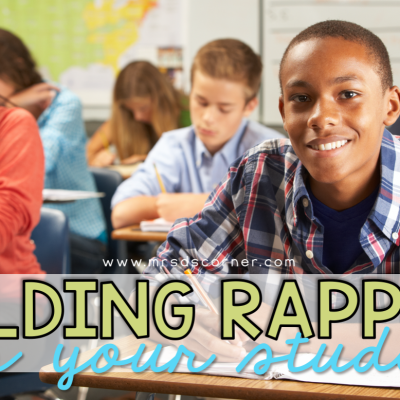 building relationships with students blog header image