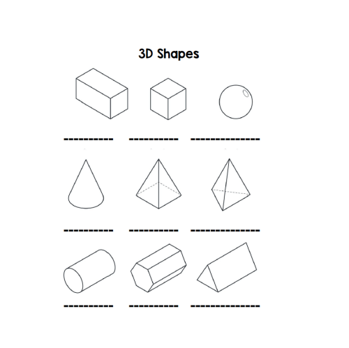 small resolution of 3D shapes - Learning with Mrs Du Preez