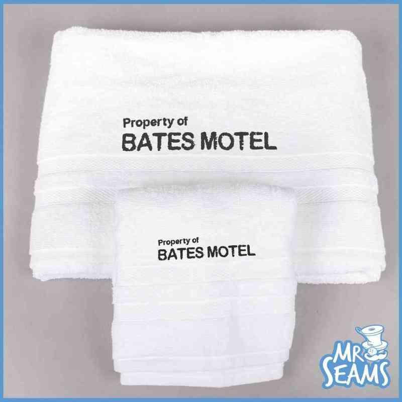 bates motel towel set