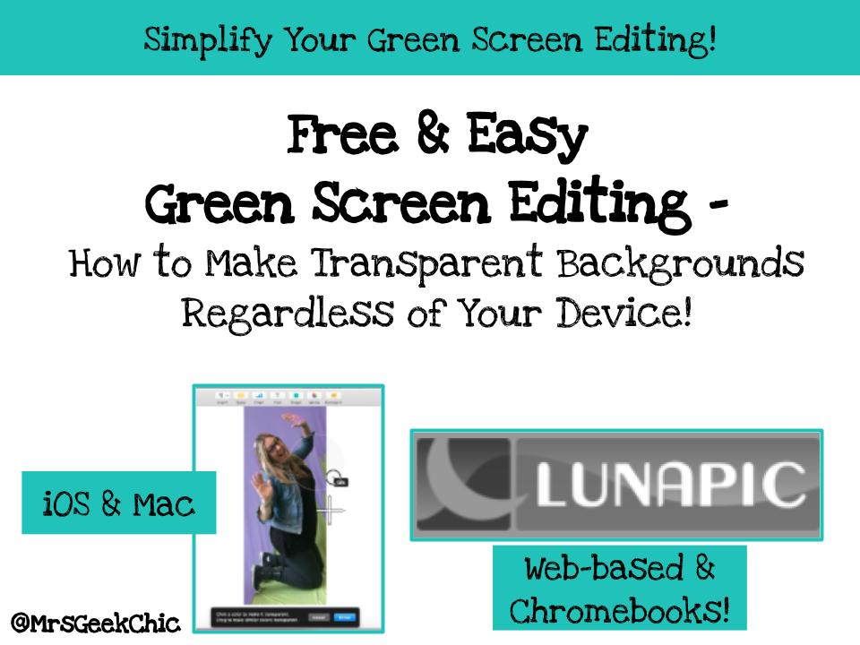 Free & Easy Green Screen Editing- How to Make Transparent ...