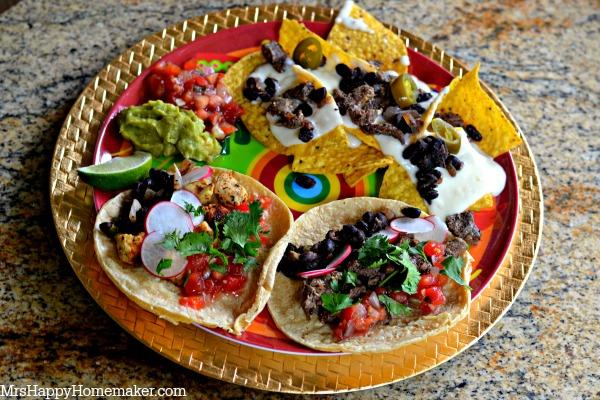 Taco  Nacho Bar  Mrs Happy Homemaker