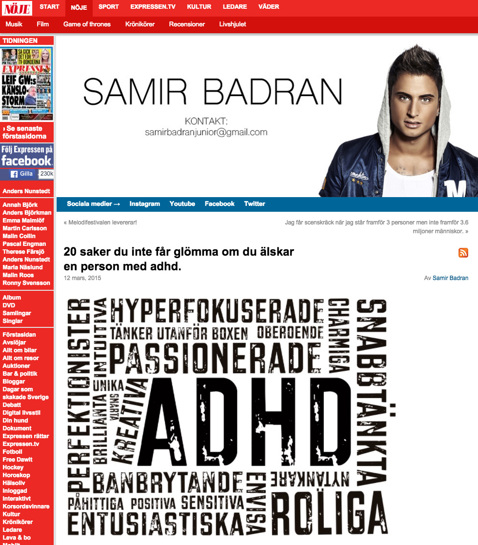 ADHD som en potential – tycker även Samir Badran
