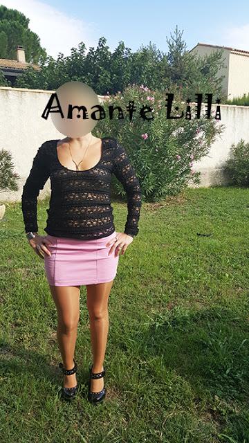 La tenue d' Amantelilli pour son défi