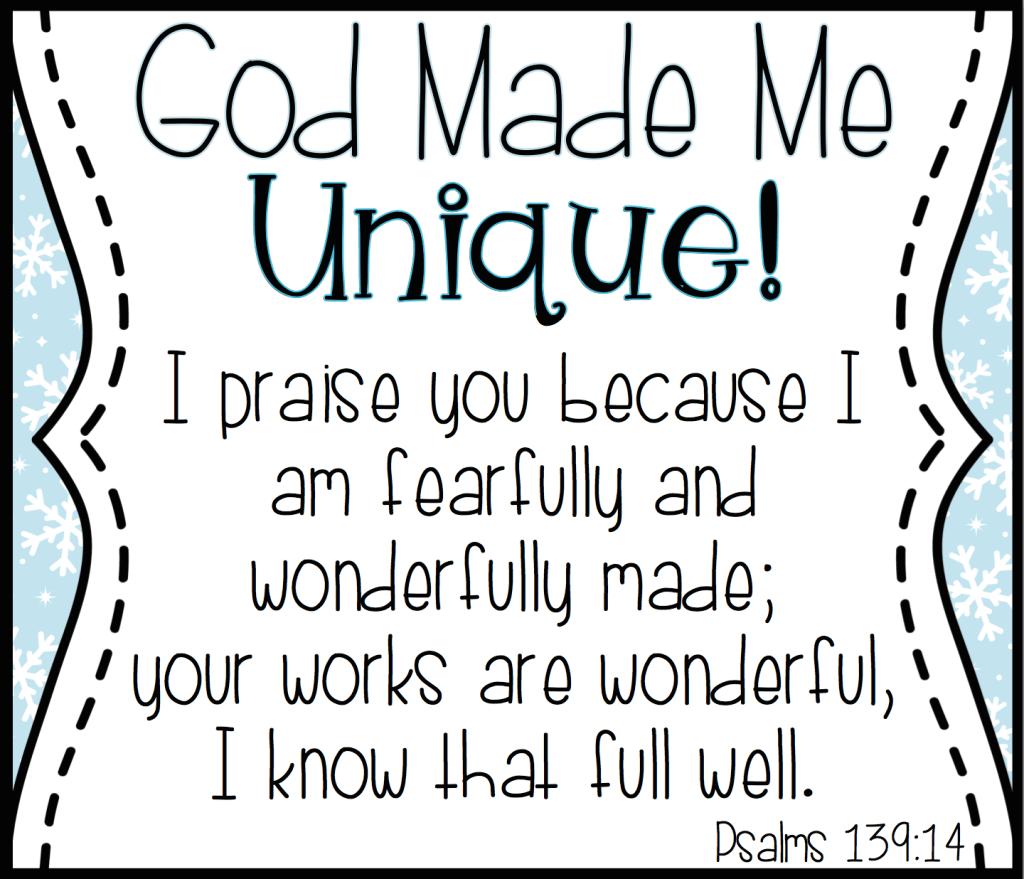 God Made Me Unique Like A Snowflake