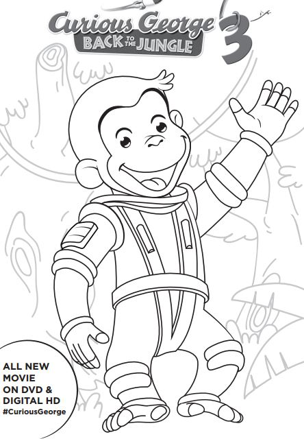 Free Curious George 3 Printable Activities #CuriousGeorge