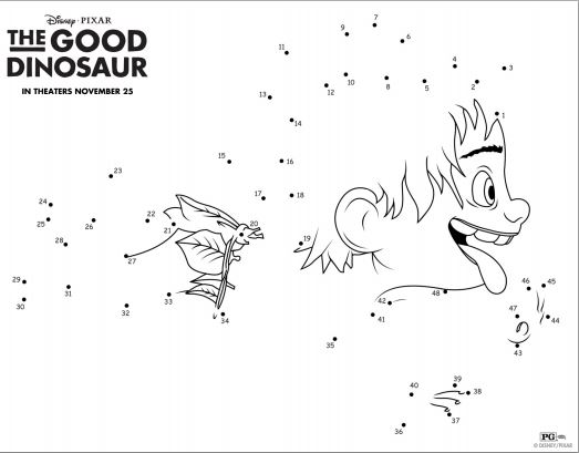 The Good Dinosaur Printable Activities #TheGoodDinosaur