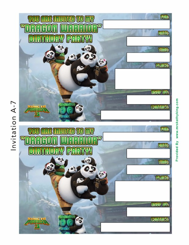 Free Kung Fu Panda 3 Printable Party Decoration Pack! #