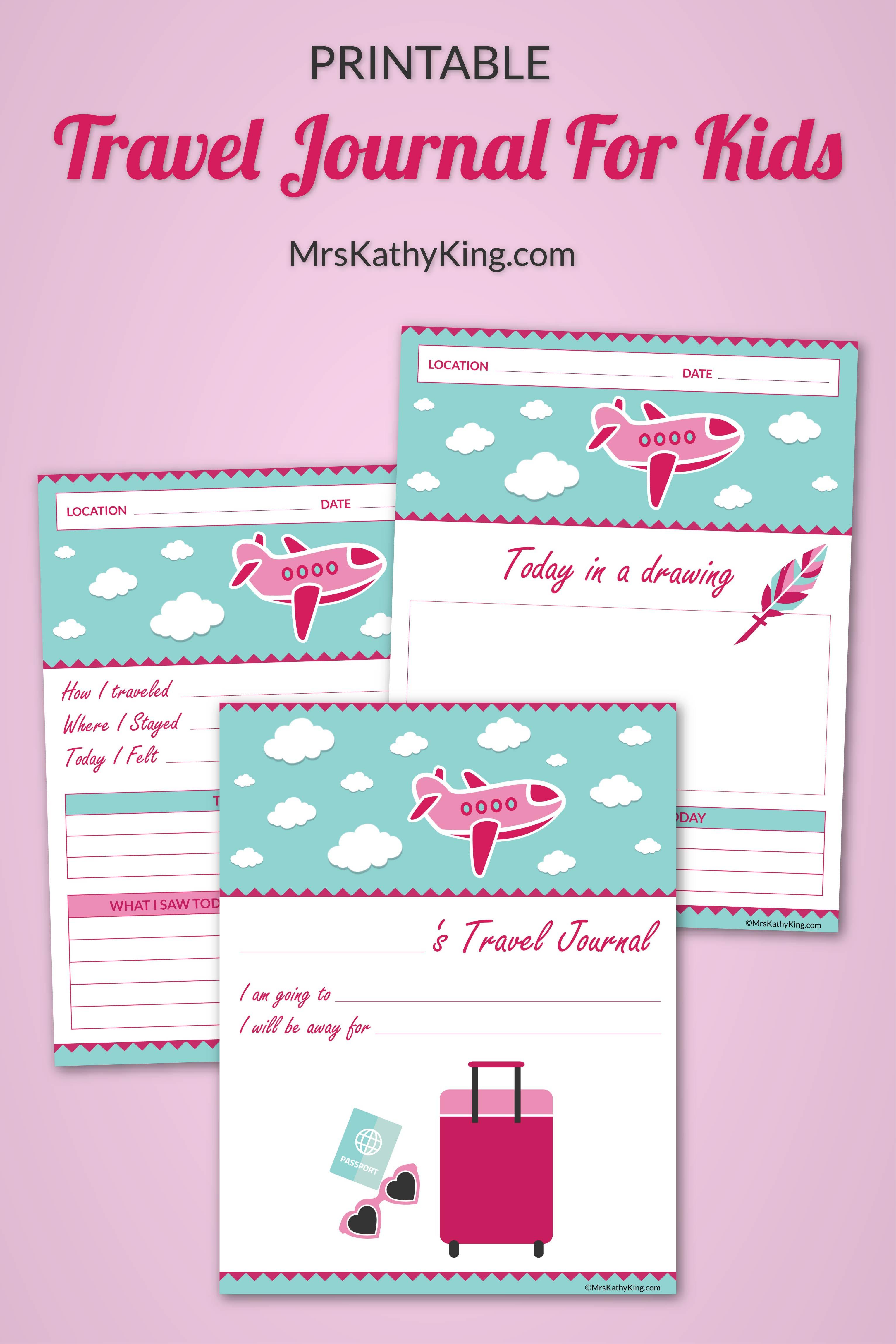 Girls Printable Travel Journal Familytravel