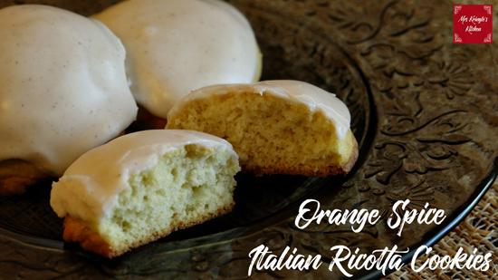 Orange Spice Italian Ricotta Cookies