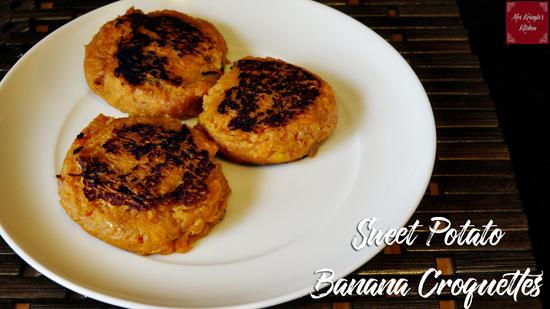 Sweet Potato Banana Croquettes
