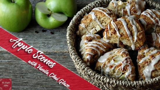 Apple Scones with Vanilla Chai Glaze