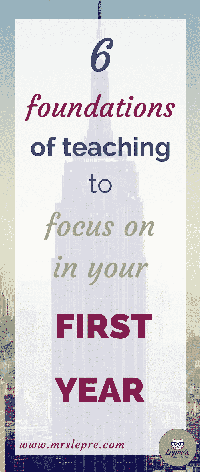 First-year teachers are burdened with juggling multiple components of teaching without burning out. Here are the 6 most important ones to focus on. first year teacher | first year teaching | beginning teacher | beginning teaching tips | first year teaching tips | how to survive your first year of teaching