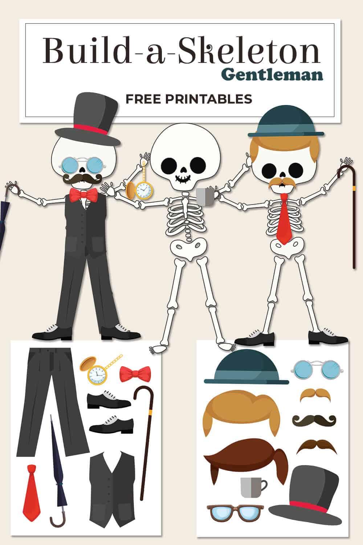 medium resolution of Build a Skeleton Gentleman - Kid Craft - Mrs. Merry