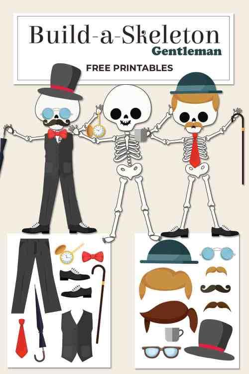 small resolution of Build a Skeleton Gentleman - Kid Craft - Mrs. Merry