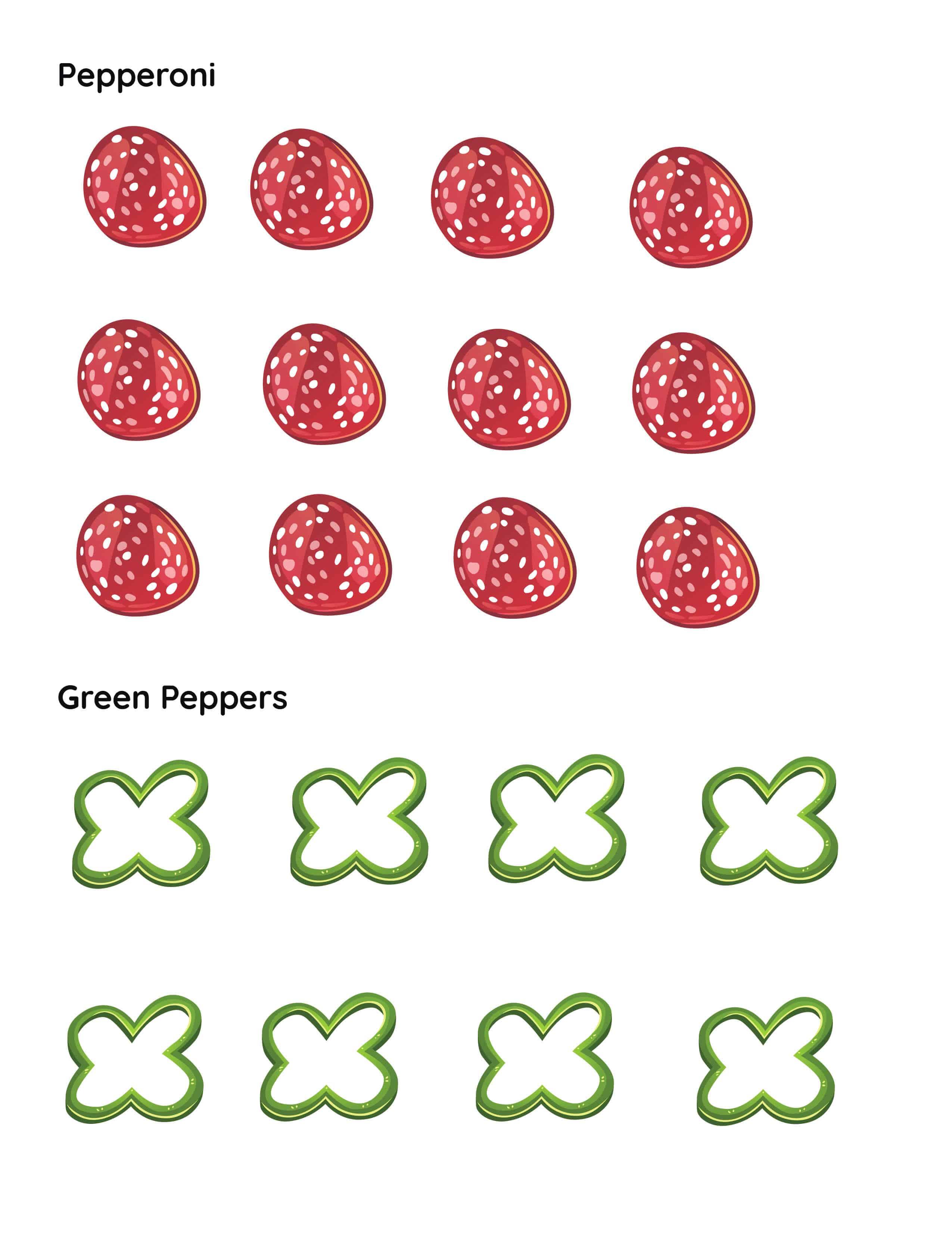Make a Pizza Printable Cutouts Mrs Merry