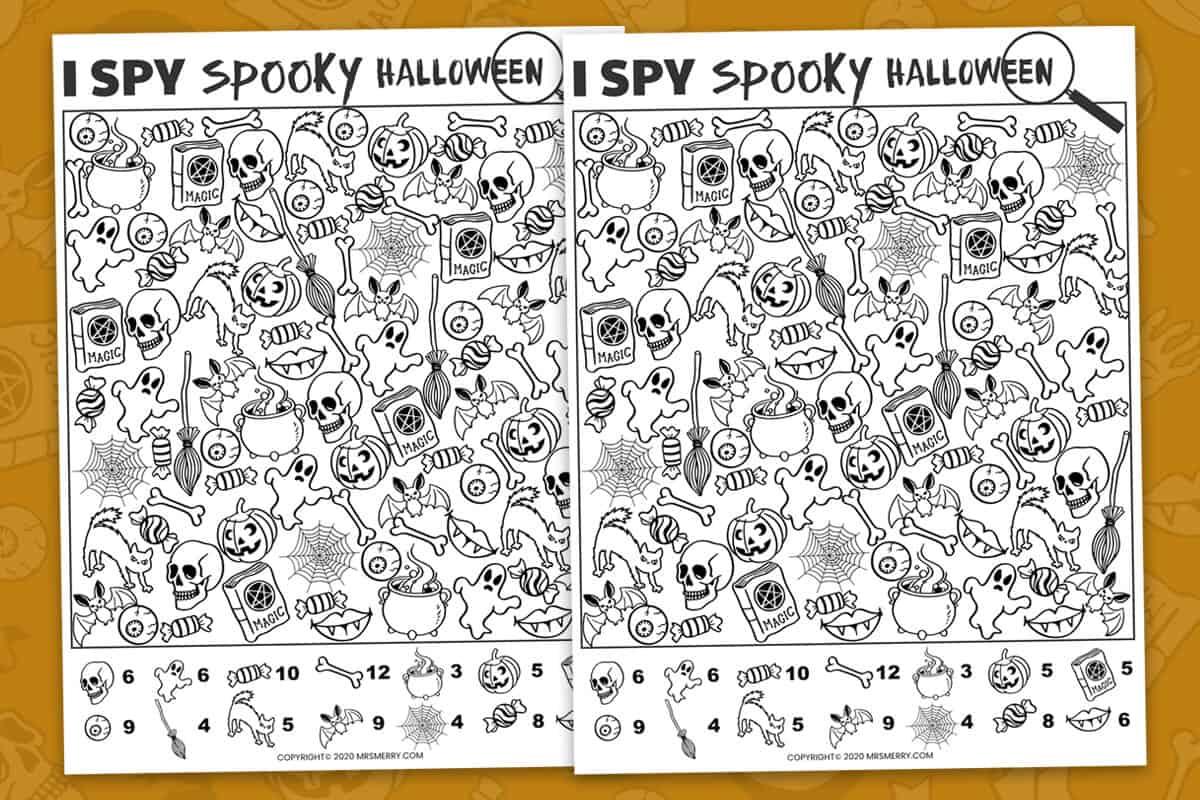 I Spy a Spooky Halloween Printable - Mrs. Merry
