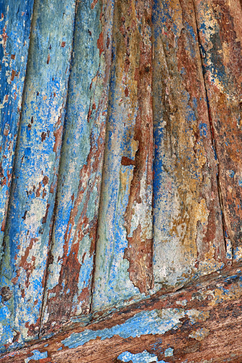 photograph of weathered boat