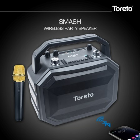 "Toreto Launches ""Smash"" – Party Speaker With Karaoke Mic"