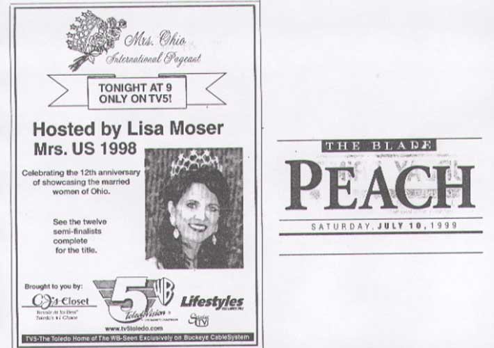Mrs. Ohio® State Pageant 1999 Media Page