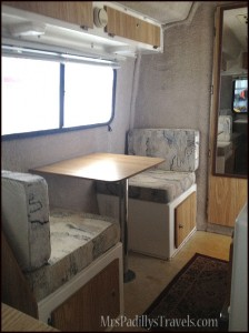 Dinette in Casita Before Glamping