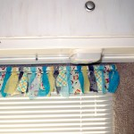 Finished Rag Valance on Casita Camper Glamping Makeover