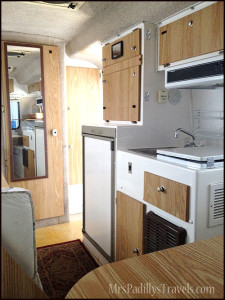 Interior of a Casita Travel Trailer BEFORE Makeover