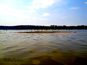 Johnson Island in the distance; Lake Conroe