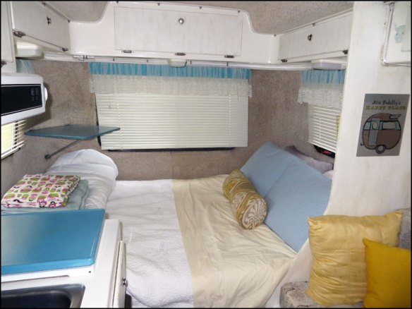 No Sew Window Treatments in a Casita Travel Trailer