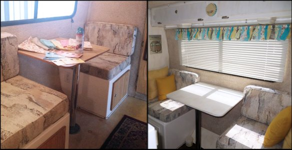 Dinette Makeover in a Casita Travel Trailer