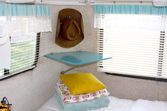 Interior of Mrs. Padilly's Glamped Casita Travel Trailer