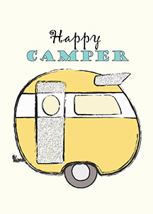 Happy Camper Printable from Mrs. Padilly's Travels