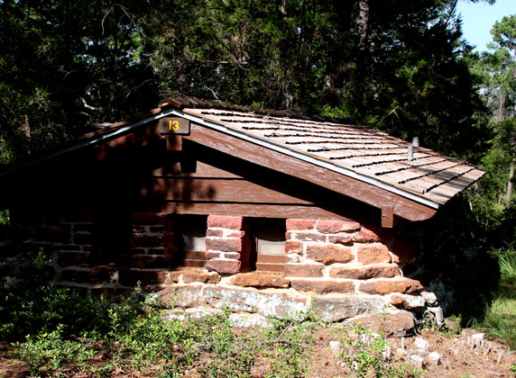 CCC built Cabin 13 in forest of Bastrop State Park