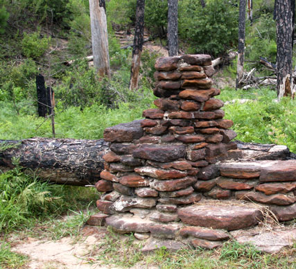 Water Well uncovered by fires at Bastrop State Park