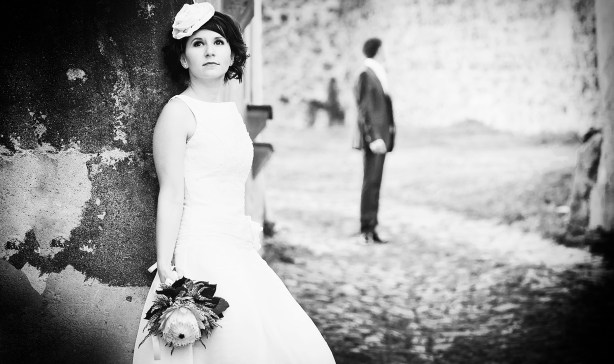 Edinburgh wedding photography by AB Weddings short wedding dress (5)