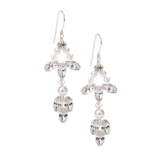 Pearl chandelier earrings_Yarwood White'